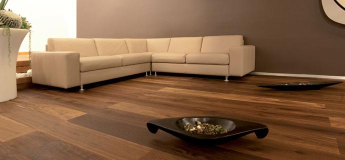 pavimento in legno noce nazionale oliato